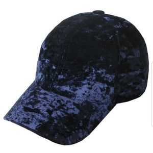 🆕 Listing Navy Blue crushed velvet baseball cap